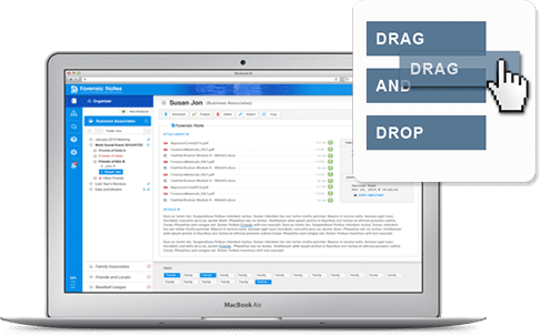 Drag and Drop Notes to Logically Organize Your Information