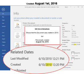MS Word Metadata Can Be Modified | Forensic Notes Software