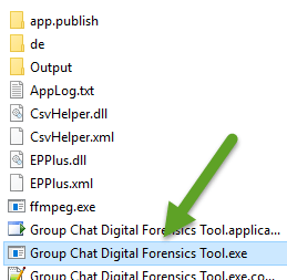 Run Group Chat App - Click the Group Chat Digital Forensics Tool.exe file