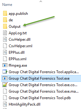Output Folder where HTML and PDF Documents are Saved