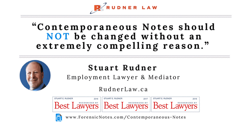 Stuart Rudner - Notes should NOT be changed
